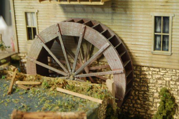 O Scale Kit - 20' Waterwheel