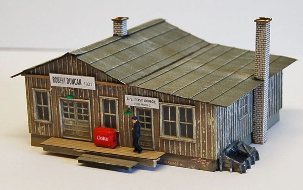 Rural Penwood NC Post Office - HO Scale Craftsman KIT