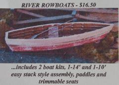 River Rowboats - 2 PAK Zip-Kit - HO Scale SAVE 50%