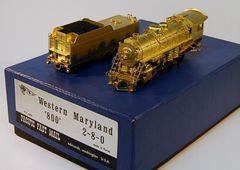 HO Brass PFM Western Maryland H9 800 2-8-0 UNPAINTED