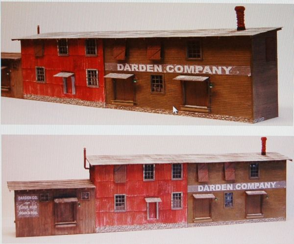 O Scale Darden Company Background #1 - NEW RELEASE!!!