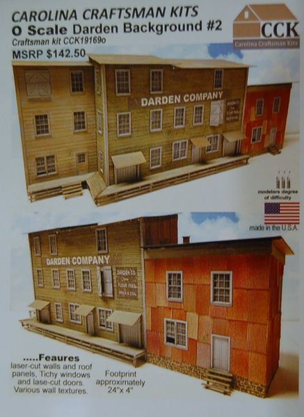 O Scale Darden Company Background #2 - SHIPPING NOW!!