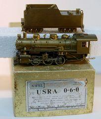 HO Brass NWSL USRA 0-6-0 - UNPAINTED
