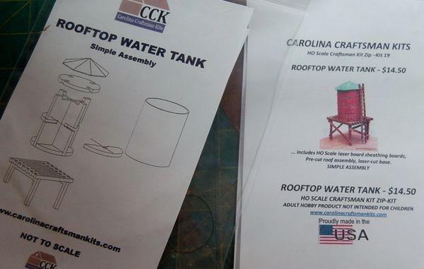 HO Rooftop Water Tank