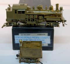 HO Brass Pacific Coast 3 Truck Shay - UNPAINTED