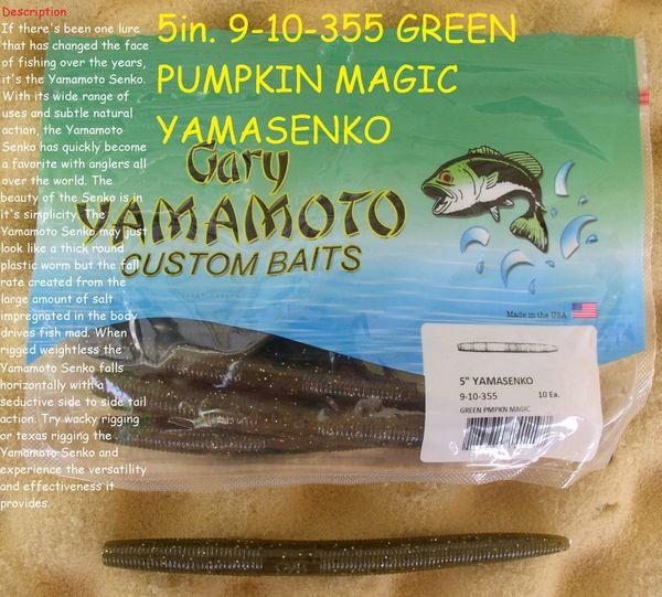 """Yamamoto 5/"""" Senko Worm Soft Bait 10 Pack"""