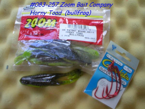 Zoom Bait Horny Toad Bait-Pack Of 5