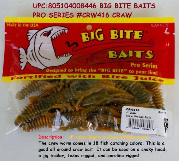 BIG BITE BAITS PRO SERIES #CRW416 CRAW