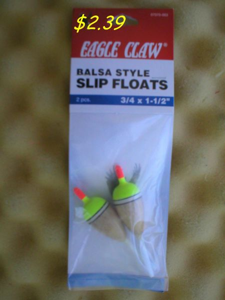 EAGLE CLAW Balsa Style Slip Floats