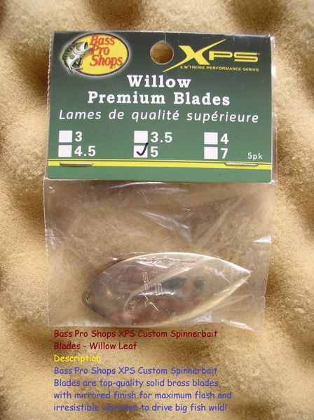 Bass Pro Shops XPS Custom Spinner bait Blades - Willow Leaf #5
