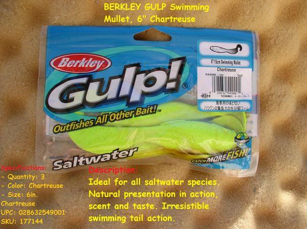 BERKLEY GULP Swimming Mullet, 6