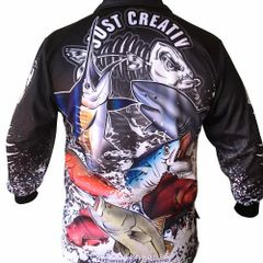 JUST CREATIV - FISHING SHIRT - Black