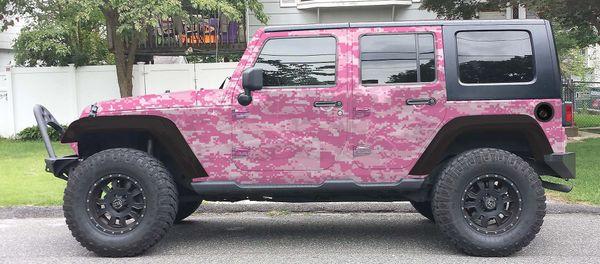 Pink Jeep Wrangler >> Pink Digital Camo Camouflage Jeep Wrangler Wrap Kit
