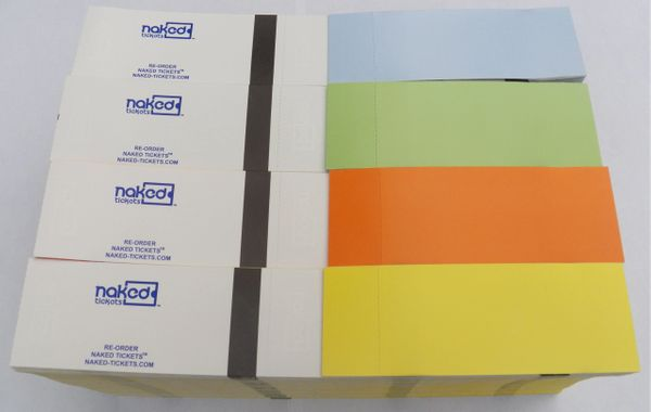 Naked Tickets™ Different Colors Per Box