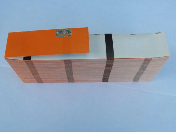 10,000 Orange Hologram Thermal Ticket Stock