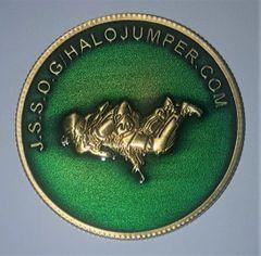 2019 J.S.S.O.G / Halojumper.com Challenge Coin Emerald Green