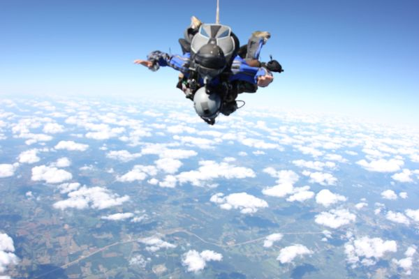 Oregon State Record Tandem HALO oxygen jump from 32,000 ft.