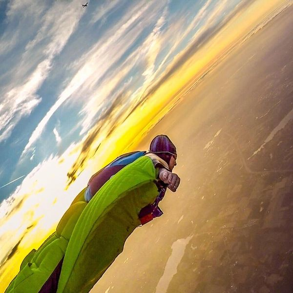 Ben Kellogg's Nevada State Record Wingsuit HALO jump from 32,000 ft.