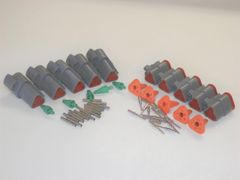5 sets GRAY Deutsch DT 3-Pin Connectors 16-18 ga AWG Solid Contacts