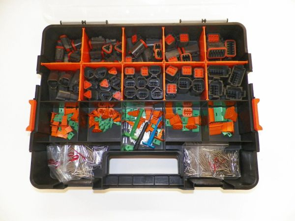518 PC BLACK DEUTSCH DT CONNECTOR KIT SOLID CONTACTS + REMOVAL TOOLS