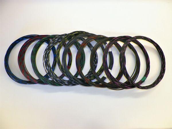 BLACK hi temp automotive 20 gauge TXL wire + 10 STRIPED color wiring options