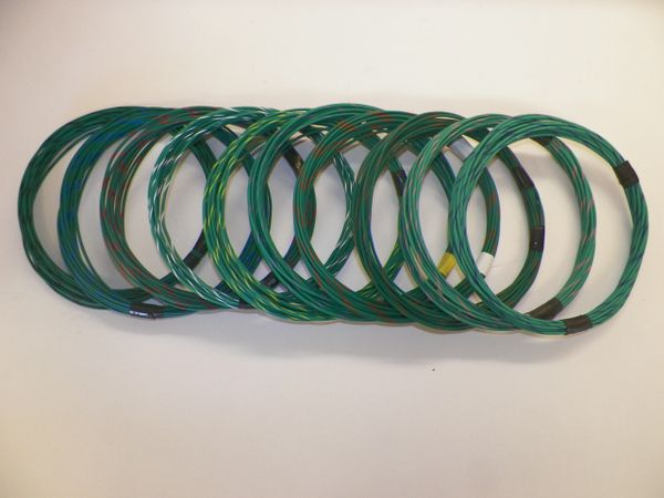 GREEN hi temp automotive 20 gauge TXL wire + 10 STRIPED color wiring options
