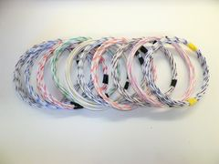 WHITE hi temp automotive 20 gauge TXL wire + 10 STRIPED color wiring options