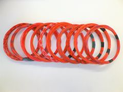 ORANGE hi temp automotive 20 gauge TXL wire + 10 STRIPED color wiring options