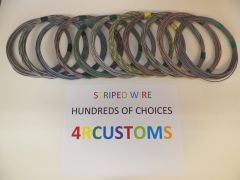 GRAY 18 gauge GXL wire - with stripe color and length options