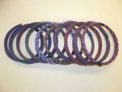 VIOLET hi temp automotive 20 gauge TXL wire + 10 STRIPED color wiring options