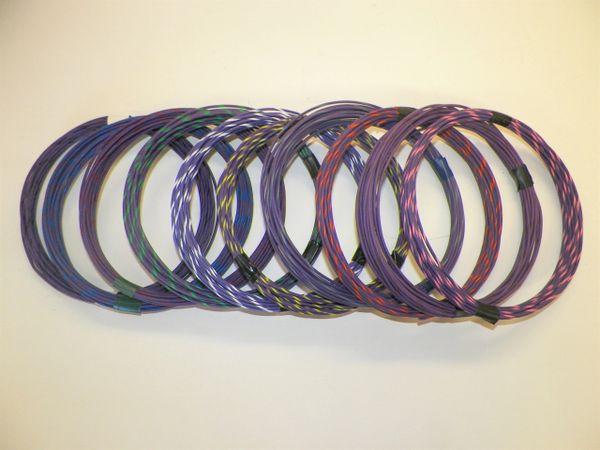 VIOLET hi temp automotive 20 gauge TXL wire + 10 STRIPED color wiring options