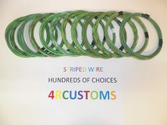 LIGHT GREEN 18 gauge GXL wire - with stripe color and length options
