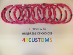 PINK 18 gauge GXL wire - with stripe color and length options
