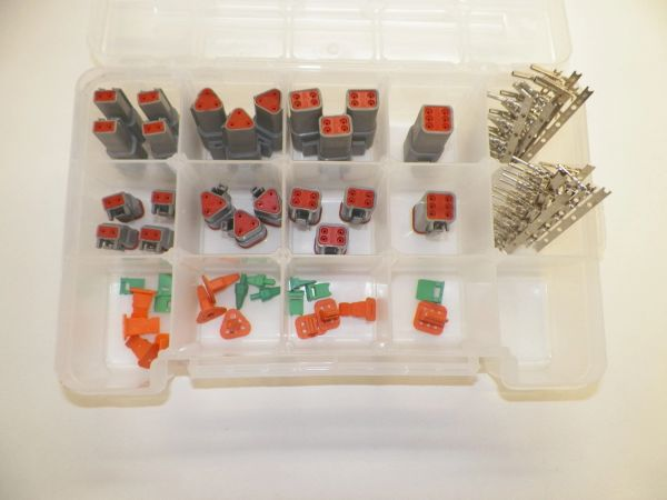 116 PC GRAY DEUTSCH DT CONNECTOR KIT STAMPED CONTACTS + REMOVAL TOOLS