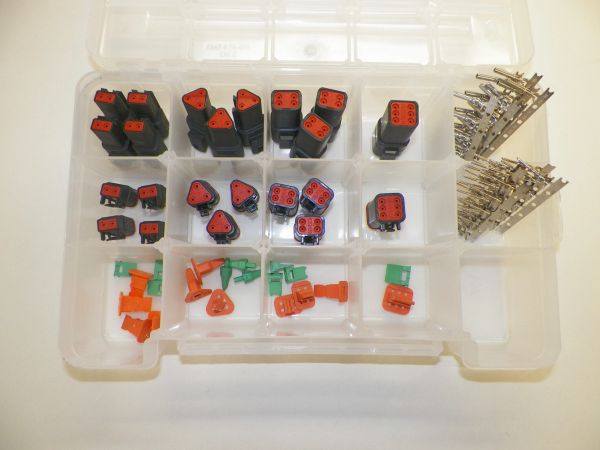 116 PC BLACK DEUTSCH DT CONNECTOR KIT STAMPED CONTACTS + REMOVAL TOOLS