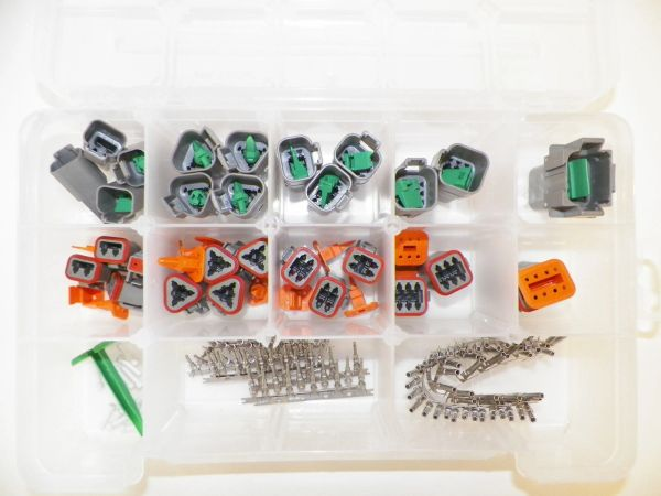 179 PC GRAY DEUTSCH DT CONNECTOR KIT STAMPED CONTACTS + REMOVAL TOOLS