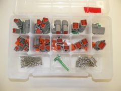 191 PC GRAY DEUTSCH DT CONNECTOR KIT SOLID CONTACTS + REMOVAL TOOL