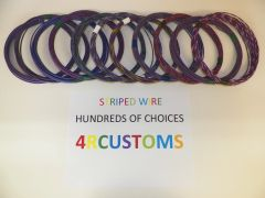 VIOLET 18 gauge GXL wire - with stripe color and length options