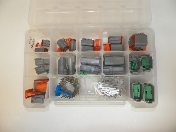 209 PC GRAY DEUTSCH DT CONNECTOR KIT STAMPED CONTACTS + REMOVAL TOOLS