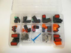 209 PC BLACK DEUTSCH DT CONNECTOR KIT STAMPED CONTACTS + REMOVAL TOOLS