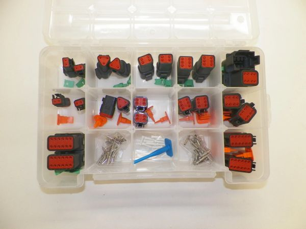 209 PC BLACK DEUTSCH DT CONNECTOR KIT SOLID CONTACTS + REMOVAL TOOLS
