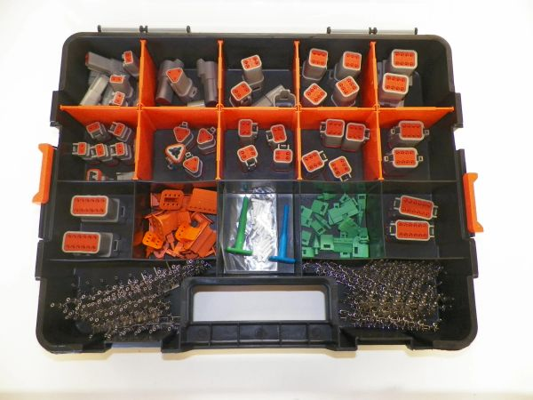 358 PC GRAY DEUTSCH DT CONNECTOR KIT STAMPED CONTACTS + REMOVAL TOOLS
