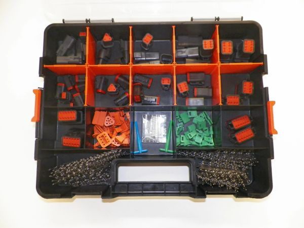 358 PC BLACK DEUTSCH DT CONNECTOR KIT STAMPED CONTACTS + REMOVAL TOOLS