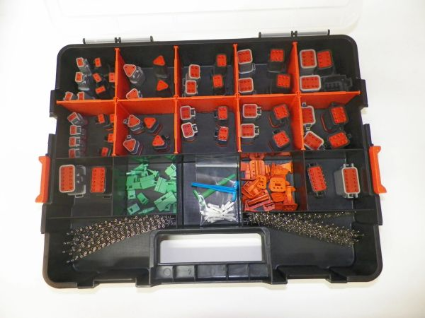 358 PC BLACK AND GRAY DEUTSCH DT CONNECTOR KIT STAMPED CONTACTS + REMOVAL TOOLS