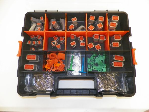 358 PC GRAY DEUTSCH DT CONNECTOR KIT SOLID CONTACTS + REMOVAL TOOLS