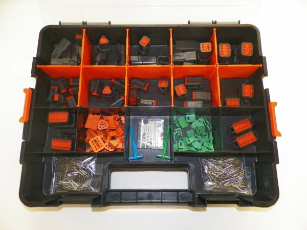 358 PC BLACK DEUTSCH DT CONNECTOR KIT SOLID CONTACTS + REMOVAL TOOLS