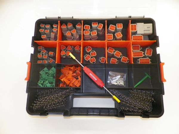 416 PC GRAY DEUTSCH DT CONNECTOR KIT STAMPED CONTACTS + REMOVAL TOOLS