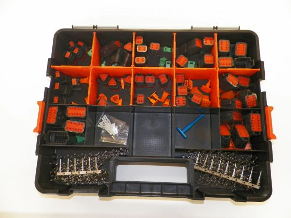 417 PC BLACK DEUTSCH DT CONNECTOR KIT STAMPED CONTACTS + REMOVAL TOOLS