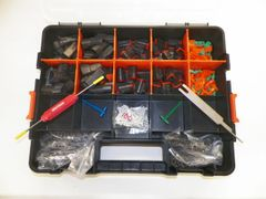 662 PC BLACK DEUTSCH DT CONNECTOR KIT STAMPED CONTACTS + REMOVAL TOOLS