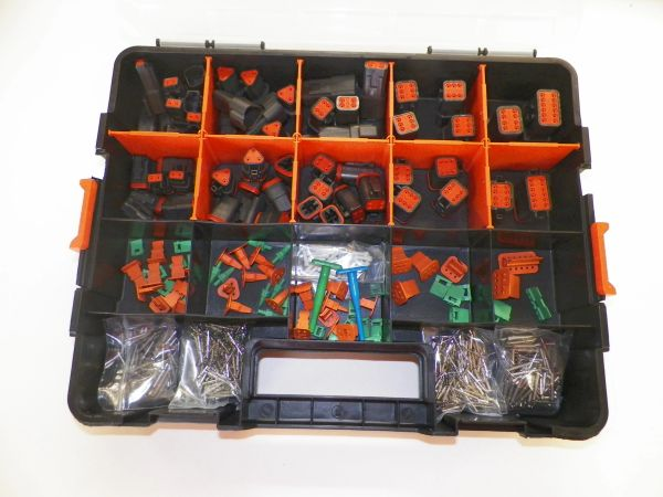 678 PC BLACK DEUTSCH DT CONNECTOR KIT SOLID CONTACTS + REMOVAL TOOLS